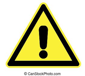 Yellow Warning Triangle - High Resolution Yellow Warning...