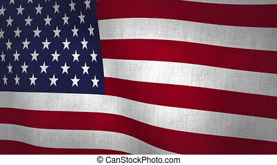 USA Flag Textured (Loop-able) - Flag Background Textured...