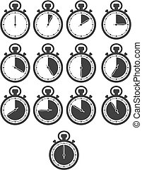 stop watch icon sets