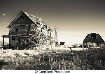 Old Farm Yard - An old farm yard on the Canadian Prairies....