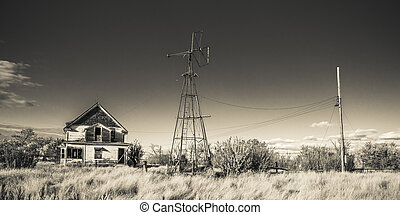 Old Farm House - An abandoned old rustic farm house by and...