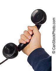 Old retro bakelite telephone