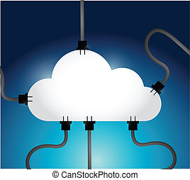 cloud computing network communication connections...