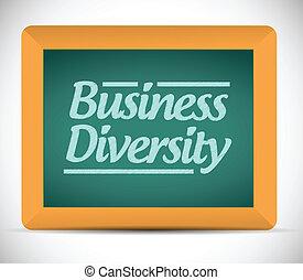 business diversity chalkboard illustration design