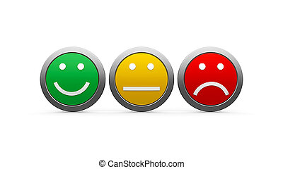 Icons emotions - Positive, neutral and negative icons...