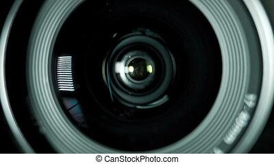 Camera photo lens.