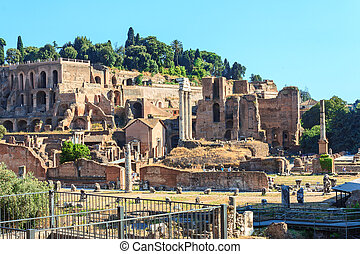 Ruins in Rome - Ancient ruins in Rome horisontal