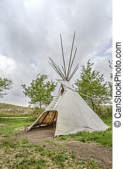 A tipi (also tepee and teepee) is a conical tent,...