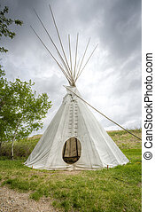 A tipi also tepee and teepee is a conical tent,...