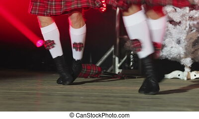 Scottish dancing - Lower leg plan dancers of the Scottish...