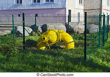 Gas pipe with valve - Big gas pipe with valve