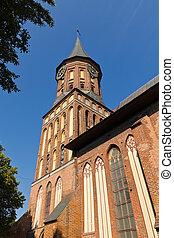 Koenigsberg Cathedral - Gothic 14th century. Kaliningrad -...