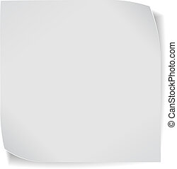 paper sticker isolated on white
