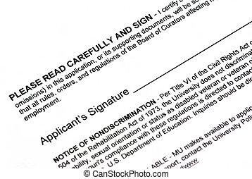Document signature