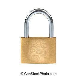 Metal padlock and fingerprint - New metal padlock with...