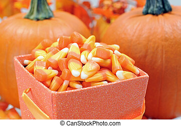 Halloween candy corn for holiday decoration