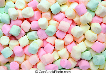 colorful marshmallows candy for background uses