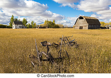 Old Farm Yard - An old farm yard on the Canadian Prairies