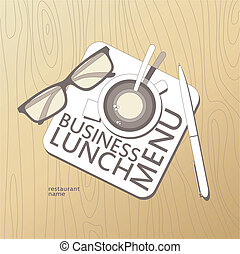 Business Lunch Menu template.