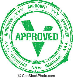 approved stamp  - approved rubber stamp