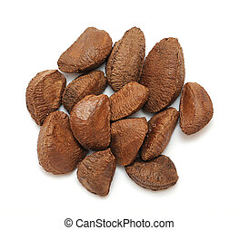 brazil nut - a group of brazil nut on white background