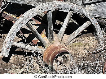 Wagon Wheel - this old pioneer wagon wheel looks like it was...