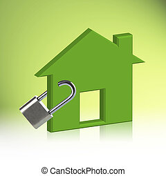Green house Locked, The concept Home Security