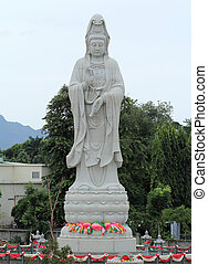 Guan Yin Statue in outdoors