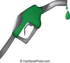 Fuel gas pump gun-ecological vector logo design