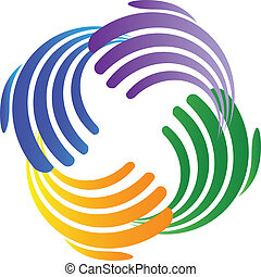 Hands connection business logo