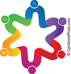 Teamwork union peoplelogo - Teamwork union people vivid...