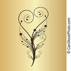 Vintage of old-fashioned flower vector illustration
