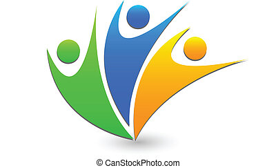 Teamwork success business logo - Teamwork success business...