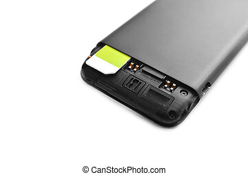 sim card in the mobile phone
