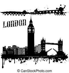 Grunge London poster
