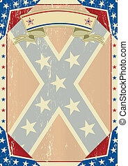 Confederate grunge letter - A grunge confederate poster for...