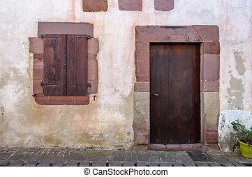 Old Basque house facade