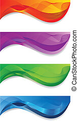 Web banners - A set of web banners of different colors