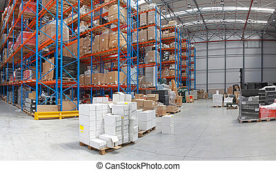 Distribution center - Distribution centre with high rack...
