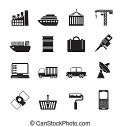 Industry and Business icons - Silhouette Industry and...