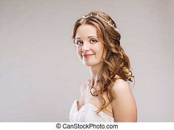 Beautiful Bride - Studio portraits with beautiful bride...