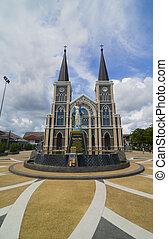 the Christian Church with blue sky