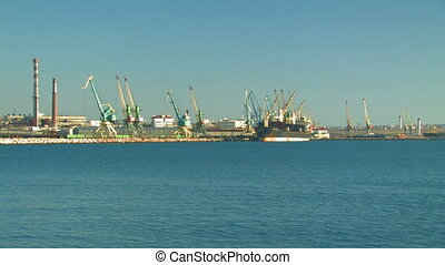 Cargo seaport. Sevastopol, Crimea, Ukraine.