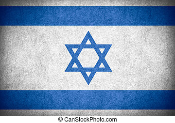 flag of Israel or Israeli banner on paper rough pattern...