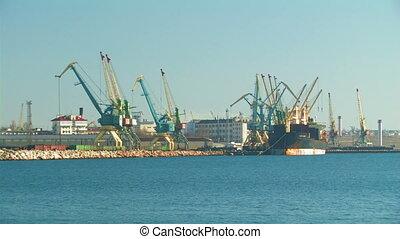 Cargo seaport.