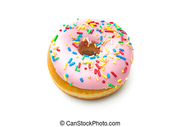 Delicious donut with sprinkles - Donut with sprinkles...