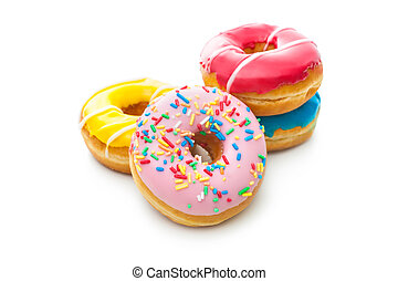 Delicious donuts with sprinkles