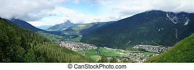 das, Stubaital, Tirol, el, Stubai, Valle, El Tyrol
