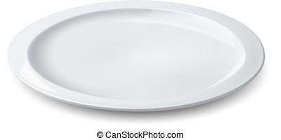 vazio, prato, isolado, branca, Ve