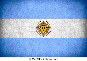 flag of Argentina or Argentinean banner on paper rough...